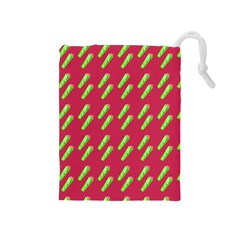 Ice Freeze Pink Pattern Drawstring Pouch (medium) by snowwhitegirl
