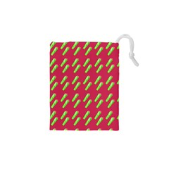 Ice Freeze Pink Pattern Drawstring Pouch (xs) by snowwhitegirl