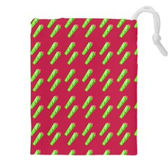 Ice Freeze Pink Pattern Drawstring Pouch (xxl) by snowwhitegirl