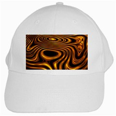 Wave Abstract Lines White Cap by Jojostore