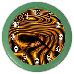 Wave Abstract Lines Color Wall Clock
