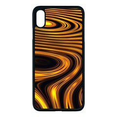 Wave Abstract Lines Iphone Xs Max Seamless Case (black)