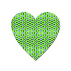 Pattern Green Heart Magnet by Mariart