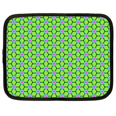 Pattern Green Netbook Case (large)