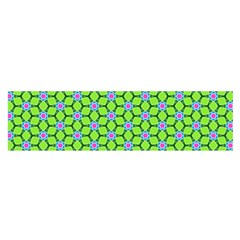 Pattern Green Satin Scarf (oblong) by Mariart