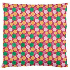 Circle Circumference Large Cushion Case (one Side) by Alisyart