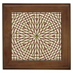 Kaleidoscope Triangle Framed Tiles by AnjaniArt