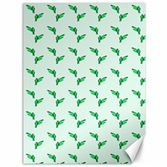 Green Parrot Pattern Canvas 36  X 48