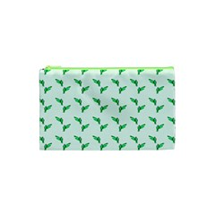 Green Parrot Pattern Cosmetic Bag (xs)