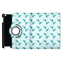 Blue Parrot Pattern Yellow Plaid Flannel Apple Ipad 3/4 Flip 360 Case