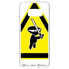 Ninja Signs Symbols Sword Fighter Samsung Galaxy S8 White Seamless Case