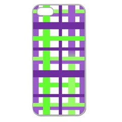 Plaid Waffle Gingham Apple Seamless Iphone 5 Case (clear) by HermanTelo