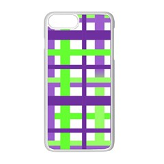 Plaid Waffle Gingham Iphone 8 Plus Seamless Case (white)