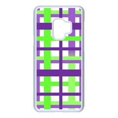 Plaid Waffle Gingham Samsung Galaxy S9 Seamless Case(white) by HermanTelo
