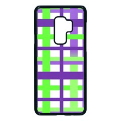 Plaid Waffle Gingham Samsung Galaxy S9 Plus Seamless Case(black) by HermanTelo