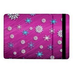 Snowflakes Winter Christmas Purple Samsung Galaxy Tab Pro 10 1  Flip Case by HermanTelo