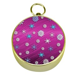 Snowflakes Winter Christmas Purple Gold Compasses by HermanTelo