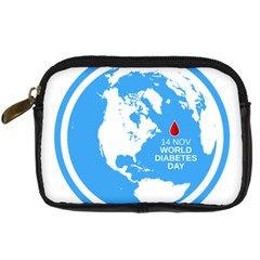 The World Day Of Struggle Against Diabet Digital Camera Leather Case