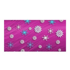 Snowflakes Winter Christmas Purple Satin Wrap by HermanTelo