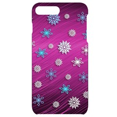 Snowflakes Winter Christmas Purple Iphone 7/8 Plus Black Uv Print Case