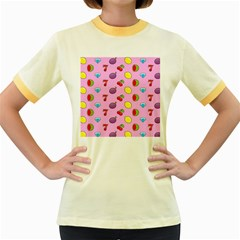 Slot Machine Wallpaper Women s Fitted Ringer T Shirt by HermanTelo
