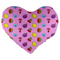 Slot Machine Wallpaper Large 19  Premium Heart Shape Cushions