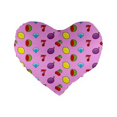 Slot Machine Wallpaper Standard 16  Premium Flano Heart Shape Cushions