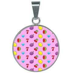 Slot Machine Wallpaper 25mm Round Necklace