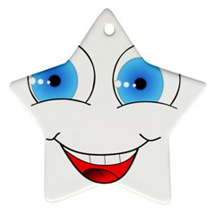 Smiley Face Laugh Comic Funny Ornament (star)