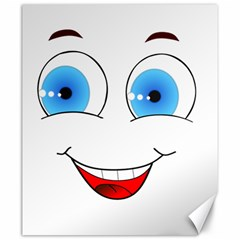 Smiley Face Laugh Comic Funny Canvas 20  X 24