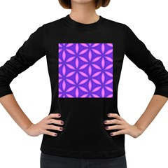 Purple Women s Long Sleeve Dark T Shirt