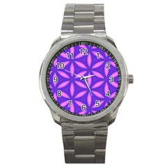 Purple Sport Metal Watch