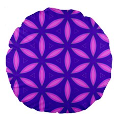 Purple Large 18  Premium Flano Round Cushions
