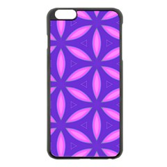 Purple Iphone 6 Plus/6s Plus Black Enamel Case
