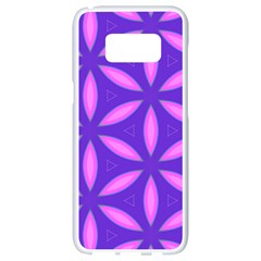Purple Samsung Galaxy S8 White Seamless Case