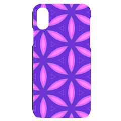 Purple Iphone X/xs Black Uv Print Case