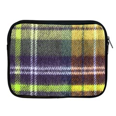 Yellow Plaid Flannel Apple Ipad 2/3/4 Zipper Cases