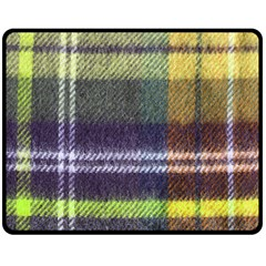 Yellow Plaid Flannel Double Sided Fleece Blanket (medium)  by snowwhitegirl