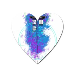 Tattoo Tardis Seventh Doctor Doctor Heart Magnet by Sudhe