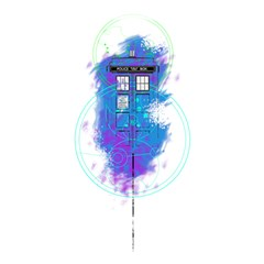 Tattoo Tardis Seventh Doctor Doctor Shower Curtain 48  X 72  (small)