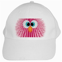 Bird Fluffy Animal Cute Feather Pink White Cap by Sudhe