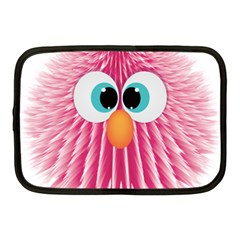 Bird Fluffy Animal Cute Feather Pink Netbook Case (medium) by Sudhe