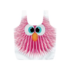 Bird Fluffy Animal Cute Feather Pink Full Print Recycle Bag (s) by Sudhe