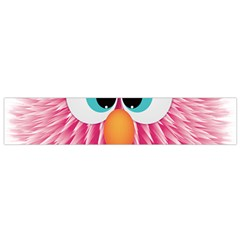 Bird Fluffy Animal Cute Feather Pink Small Flano Scarf