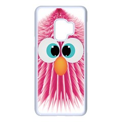 Bird Fluffy Animal Cute Feather Pink Samsung Galaxy S9 Seamless Case(white)