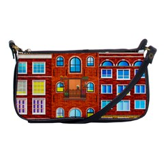 Town Buildings Old Brick Building Shoulder Clutch Bag by Sudhe