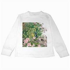 Peafowl Peacock Feather Beautiful Kids Long Sleeve T-shirts
