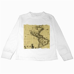 Map Vintage Old Ancient Antique Kids Long Sleeve T-shirts