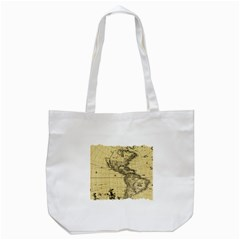 Map Vintage Old Ancient Antique Tote Bag (white) by Sudhe