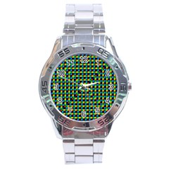 Kaleidoscope Art Unique Design Stainless Steel Analogue Watch